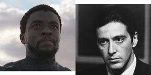 Chadwick Boseman T'Challa Black Panther Michael Corleone The Godfather Al Pacino