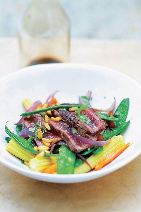 groentesalade met biefstuk