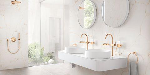 gekleurde kranen badkamer
