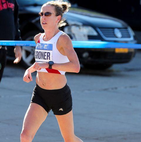 Roberta Groner places 12th at the 2018 New York City Marathon.