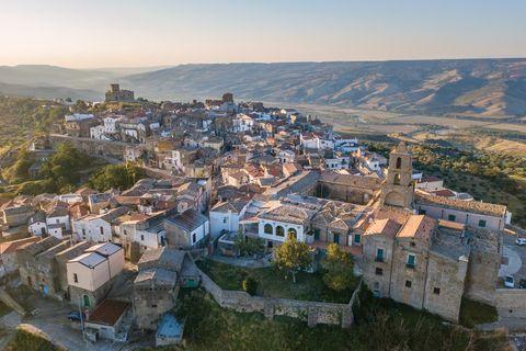 Pueblo italiano de Grottole