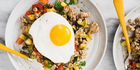 Dish, Food, Cuisine, Ingredient, Fried egg, Brunch, Meal, Produce, Staple food, Breakfast,