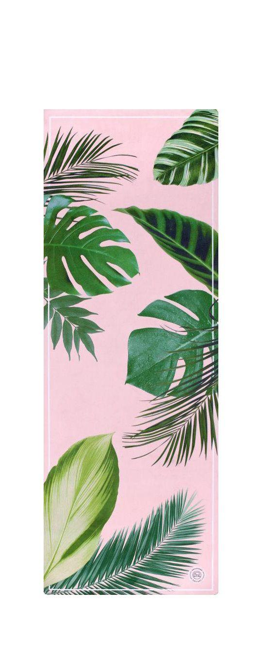 best yoga mats,Botanical Garden Pink Yoga Mat