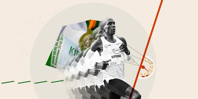 eliud kipchoge running in a marathon