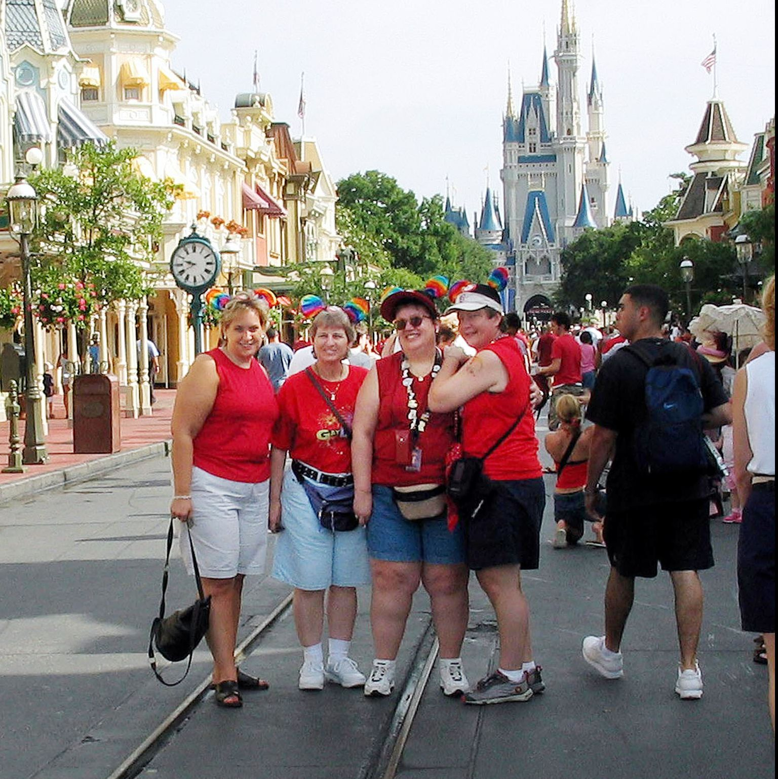 """Visitors to Disney World during 2003's """"Gay Days."""" While the company hasn't officially sanctioned the annual LGBT celebration, it hasn't tried to thwart it."""