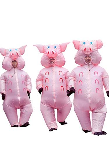 group halloween costume - three little pigs