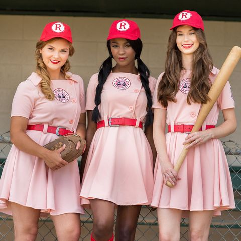 group halloween costumes a league of their own