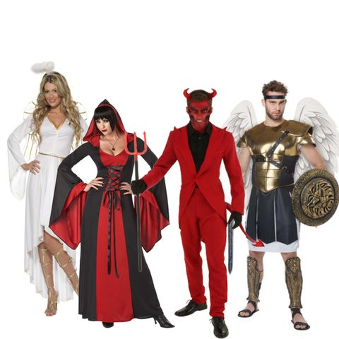 group halloween costumes devils and angels