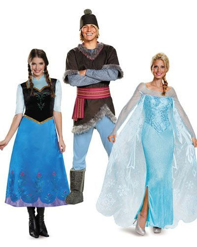 group halloween costumes frozen