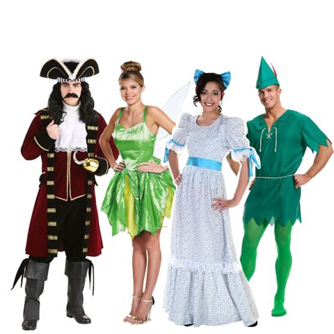 group halloween costumes peter pan and the gang