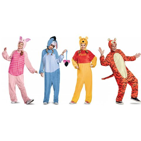 group halloween costumes winnie the pooh