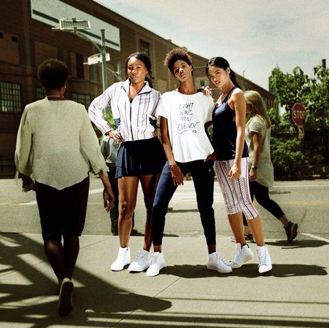 Snapshot, Fun, Leisure, Photography, Footwear, Pedestrian, Uniform, Walking, Team, Road,