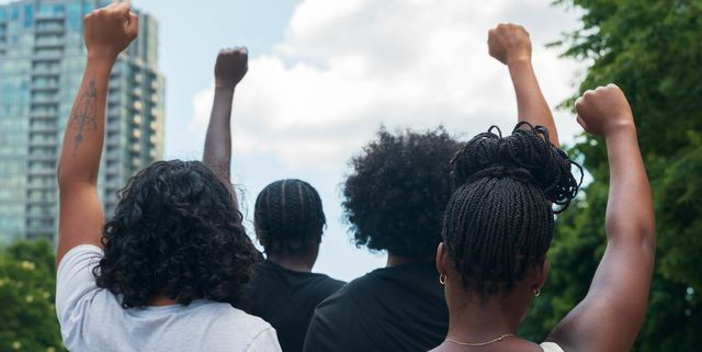 group of african american people protest