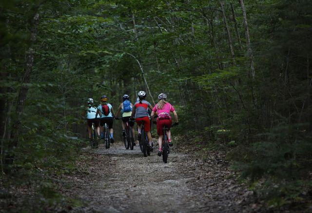 mountain biking at bradbury mountain state park