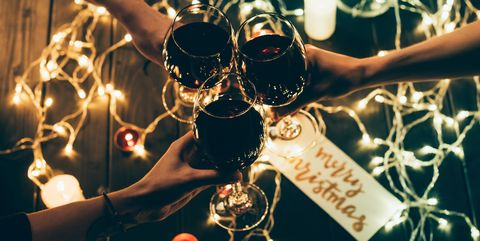 Image result for christmas group red wine""