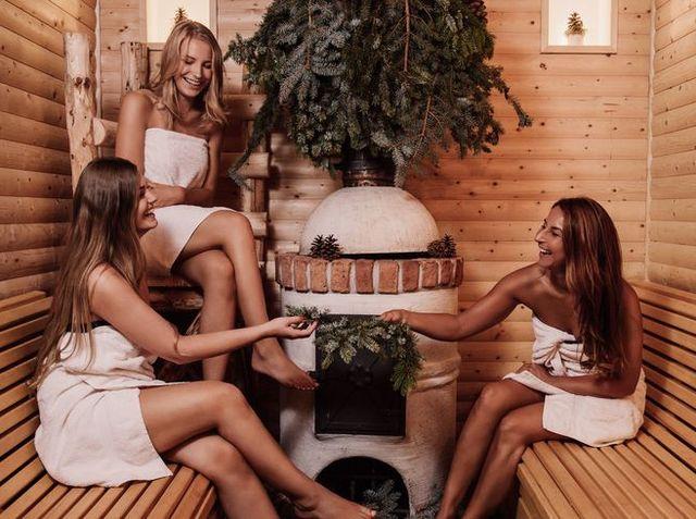 Group of women in Sauna
