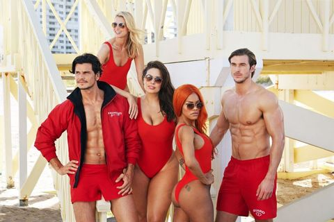 8b4f64d8ebd Ashley Graham 'Baywatch' Red Swimsuit Photos For Swimsuit For All ...