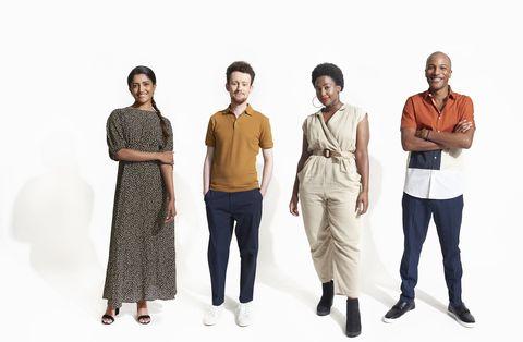 group portrait of confident millennials