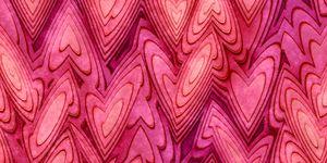 Grunge Lovely Valentine Red Heart Background