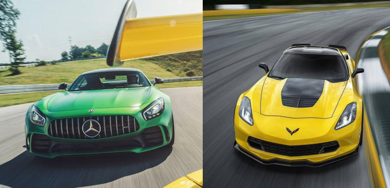 The Mercedes-AMG GT R and Corvette Z06 Offer Shockingly Similar ...