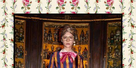 Pink, Magenta, Style, Dress, Pattern, One-piece garment, Street fashion, Vintage clothing, Visual arts, Painting,