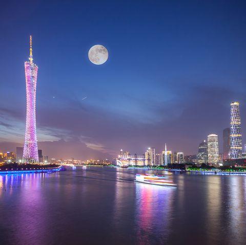 Guangzhou CBD in Moon Night