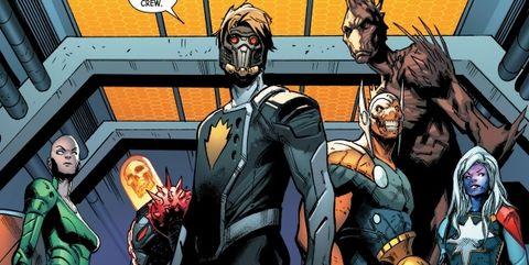 guardianes de la galaxia marvel nuevo equipo