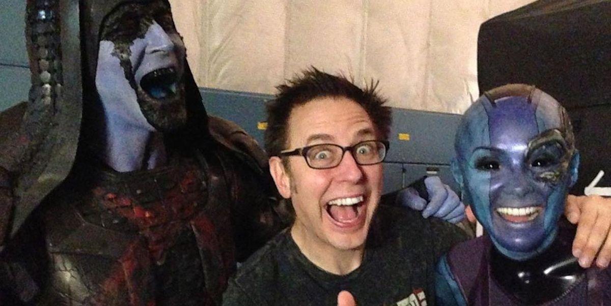 James Gunn comparte imágenes del rodaje de 'Guardianes de la galaxia' nunca vistas