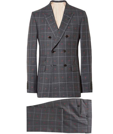 Clothing, Suit, Outerwear, Plaid, Blazer, Pattern, Jacket, Formal wear, Sleeve, Design,