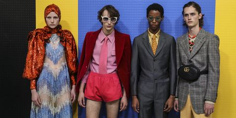 People, Fashion, Blue, Fashion design, Eyewear, Event, Photography, Glasses, Art, Suit,