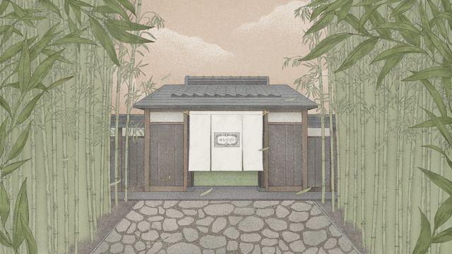 ブランド創設100周年を祝し、京都で体験型エキシビション「グッチ バンブーハウス」を開催