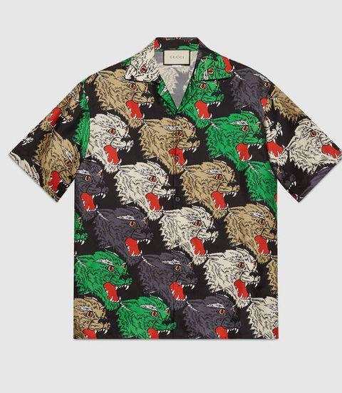 gucci camisa hawaiana verano 2018 hombre
