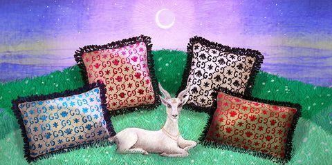 Green, Furniture, Grass, Cushion, Pillow, Couch, Fawn, Art,