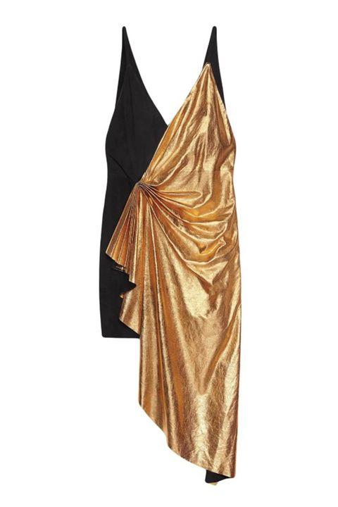Clothing, Brown, Dress, Outerwear, Textile, Satin, Beige, Sarong,