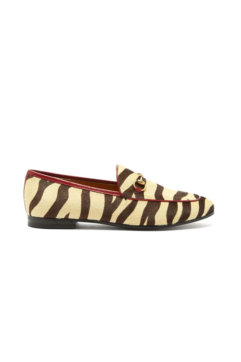 leopard print leather shoes