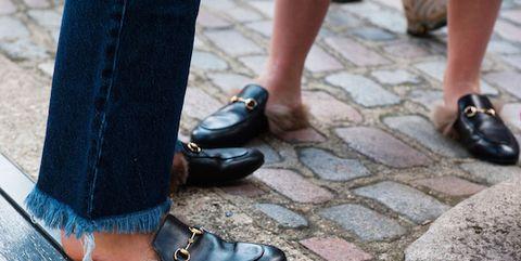 Footwear, Brown, Shoe, Human leg, Denim, Fashion, Tan, Leather, Black, Street fashion,