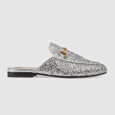 image. Courtesy Photo. Pubblicità - Continua a leggere di seguito. Gucci  Princetown scarpe slippers glitter ... 7d91ca74516