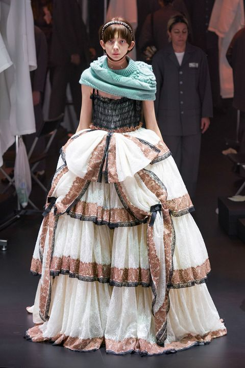 Fashion, Clothing, Fashion model, Dress, hoopskirt, Haute couture, Victorian fashion, Costume design, Fashion show, Gown,