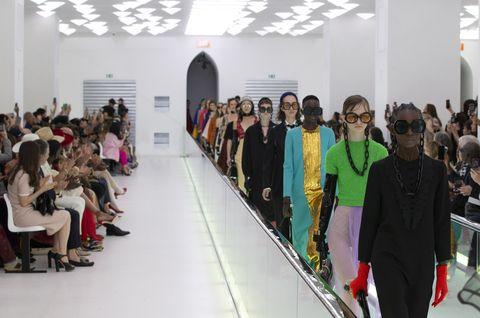 Fashion, Event, Runway, Design, Fashion show, Fashion design, Crowd, Architecture, Art,