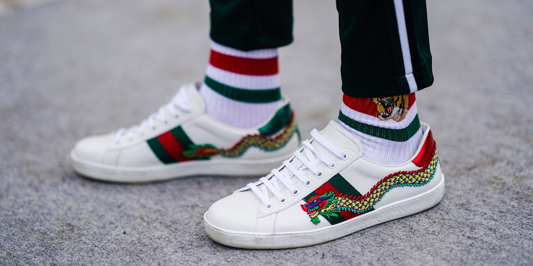 gucci zapatillas blancas dragon