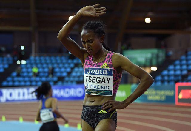 gudaf tsegay gana la prueba de 3000 metros en la reunión de madrid en el año 2021