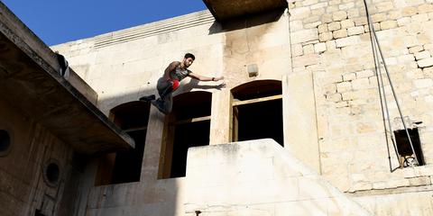 guerra siria parkour alepo
