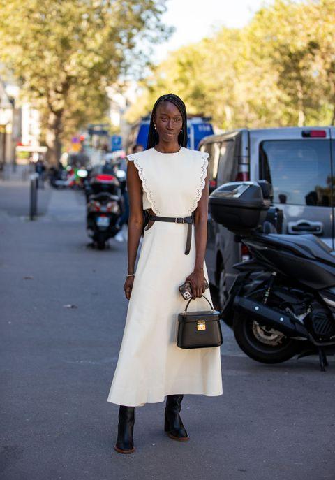 street style  day four    paris fashion week   womenswear spring summer 2022