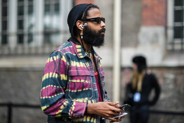 street style at off white fall winter 2021 2022 show paris fashion week