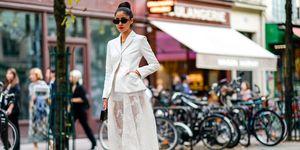 Street Style : Paris Fashion Week Womenswear Spring/Summer 2018 : Day One