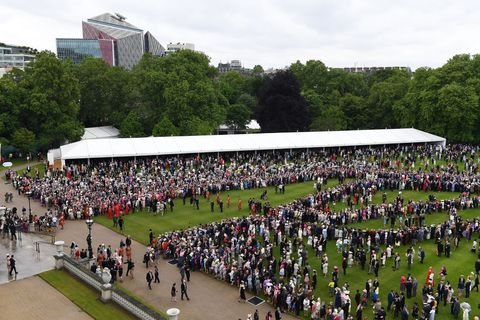 View Of The Queen's Garden Party From The Roof Of Buckingham Palace