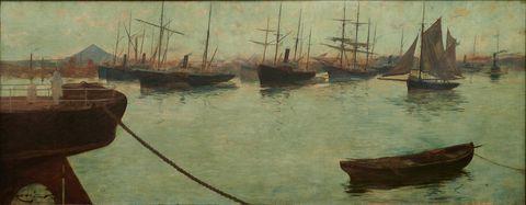 adolfo guiard la ría en axpe, 1886 Óleo sobre lienzo 115 x 295 cm colección sociedad bilbaina
