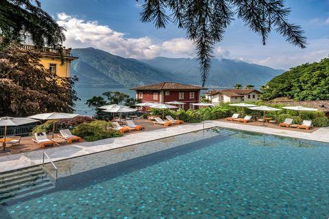 The pool at Grand Hotel Tremezzo