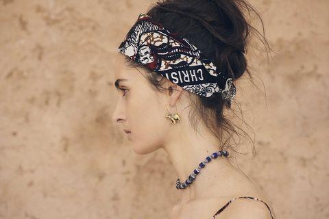 Headpiece, Hair, Hair accessory, Clothing, Beauty, Hairstyle, Chin, Forehead, Fashion accessory, Headgear,