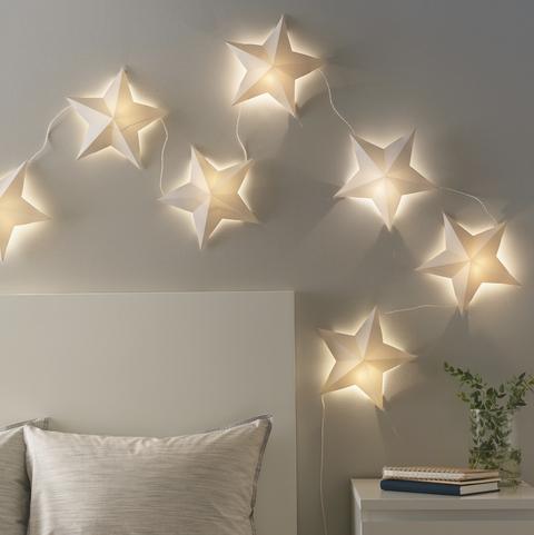 Guirnalda de luces LED con forma de estrellas